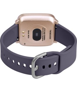 iConnect by Timex Active 37mm Resin Strap Smartwatch Rose-Gold-Tone/Purple large