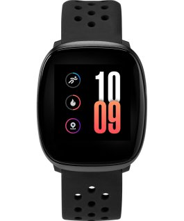 iConnect by Timex Premium Active 36mm Silicone Strap Smartwatch Black large