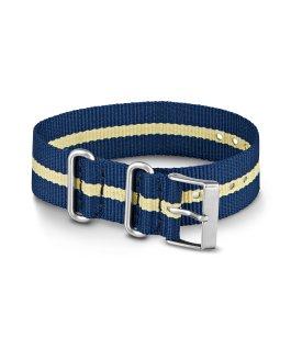Grand bracelet en nylon 2 20mm bleu