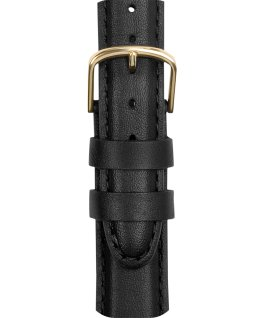 18mm Mens Leather Strap Black large