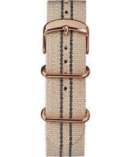 20mm Metallic Stripe Slip-Thru Fabric Strap Pink large