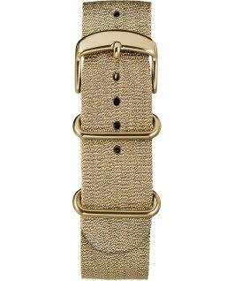 20mm Metallic Slip-Thru Fabric Strap Gold-Tone large
