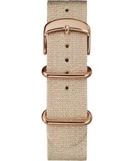 20mm Metallic Slip-Thru Fabric Strap Pink large