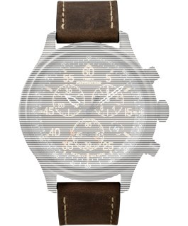 Replacement 20mm Leather Strap for Expedition Field Chronograph Brown large