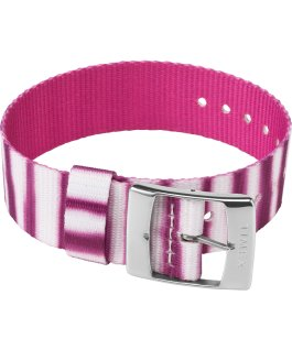 20mm Fabric Single Layer Slip Thru Strap with Tie Dye Pattern Pink large