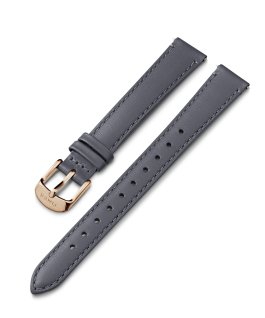 14mm Rose Gold Tone Buckle Leather Strap Gray large