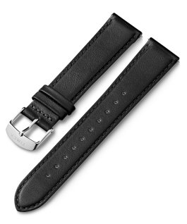 20mm Leather Strap with Quick Release Black large