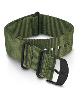 22mm Fabric Slip Thru Double Layer Strap Green large