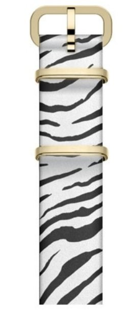 16mm Leather Slip Thru Single Layer Strap With Animal Prints White large
