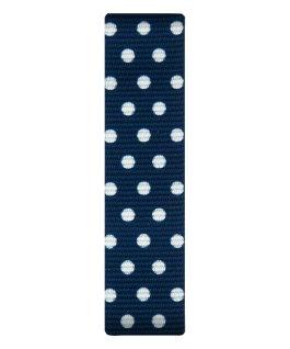 Cinturino slip-thru in nylon blu con pois bianchi  large