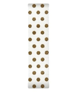 Cream / Gold Dots Nylon Slip-thru Strap  large