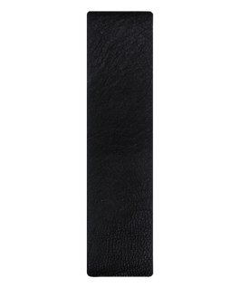 Armband mit schwarzem Leder und bronzefarbenen Kanten zum Überziehen  large