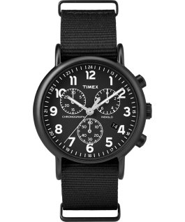 Weekender Chronograph 40mm Fabric Strap Watch Black large