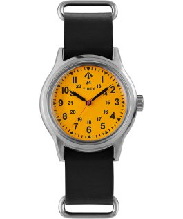 Timex x Nigel Cabourn 36mm Camper Stainless-Steel/Black/Orange large