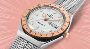 Q TIMEX 36mm Stainless Steel Bracelet