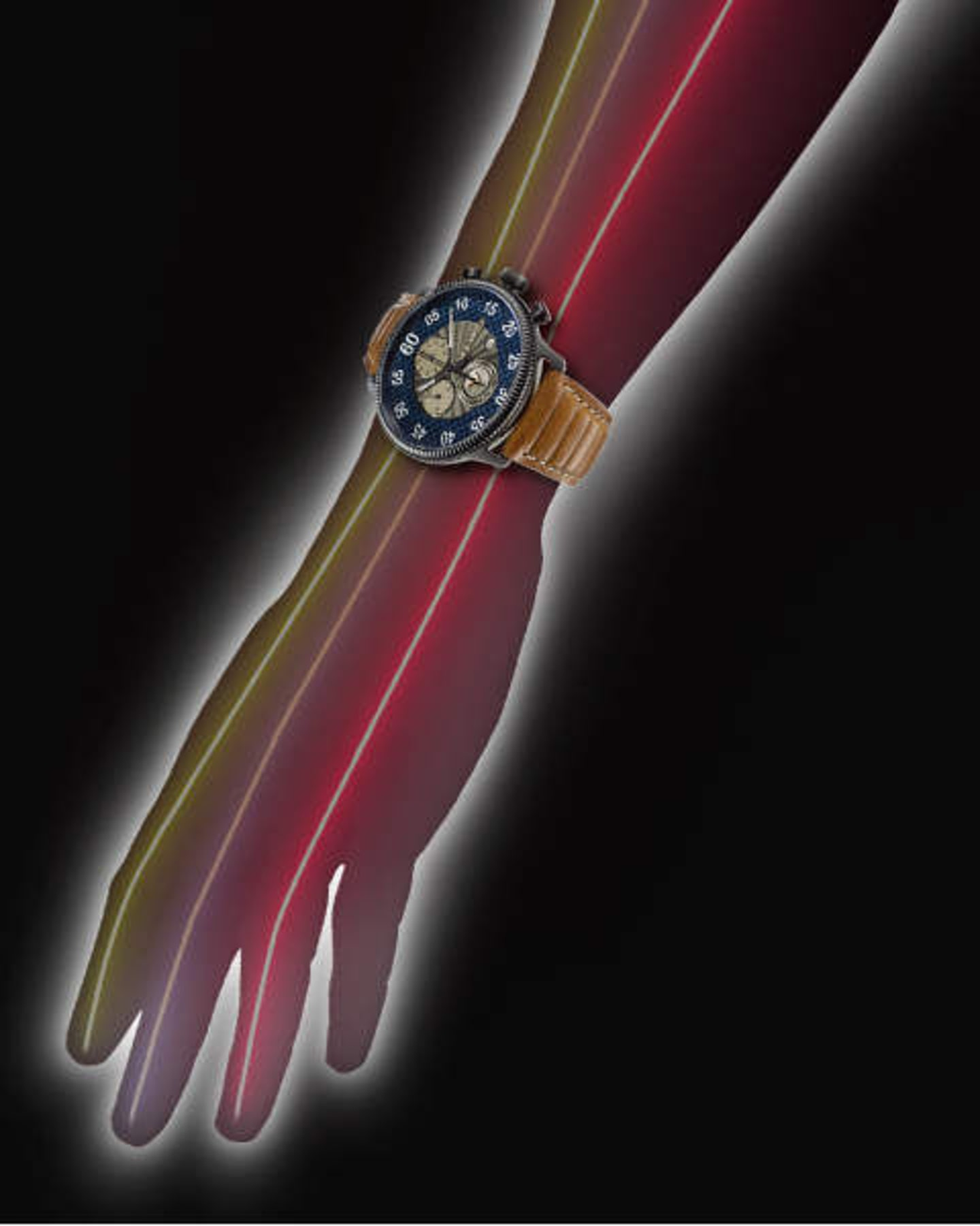 Diagram of the arm and all the energy paths it contains.