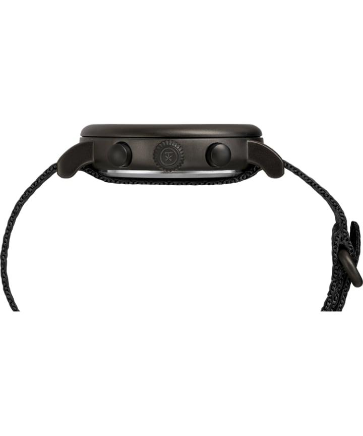 Timex® Standard Chronograph 41mm Fabric Strap Watch Black large