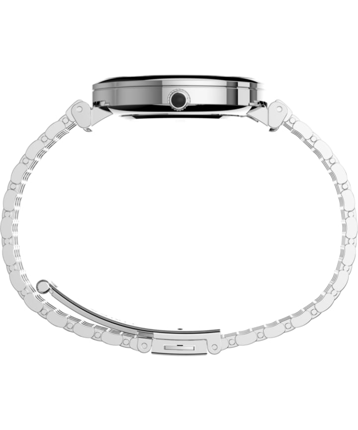 Parisienne 35mm Stainless Steel Bracelet Watch Silver-Tone/Mother-of-Pearl large