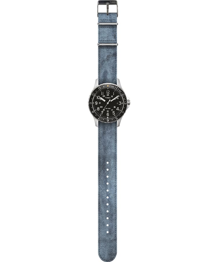 Navi Ocean 38mm Fabric Strap Watch Black/Blue large
