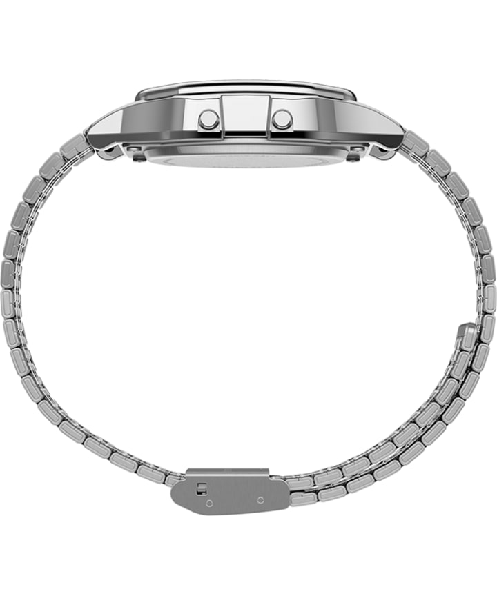 Timex T80 x PAC-MAN™ 34mm Stainless Steel Bracelet Watch Silver-Tone large