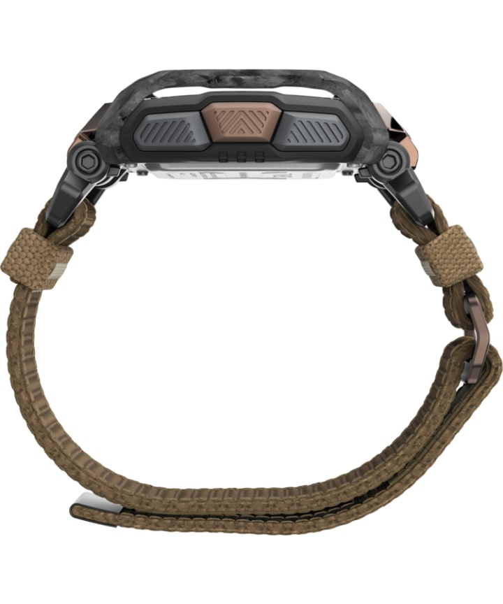 Command™ Shock 54mm Fabric FAST WRAP Watch Black/Brown large