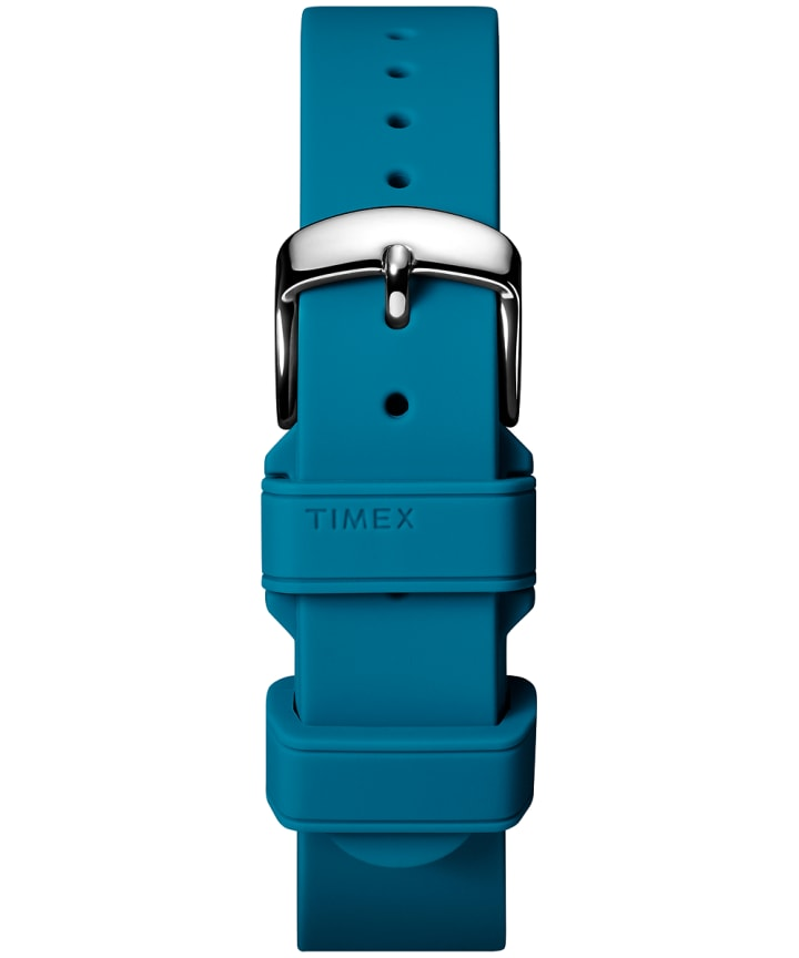 18mm Silicone Two-Piece Strap Blue large