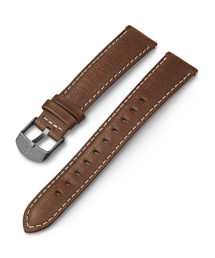 18mm Leather Strap Brązowy large