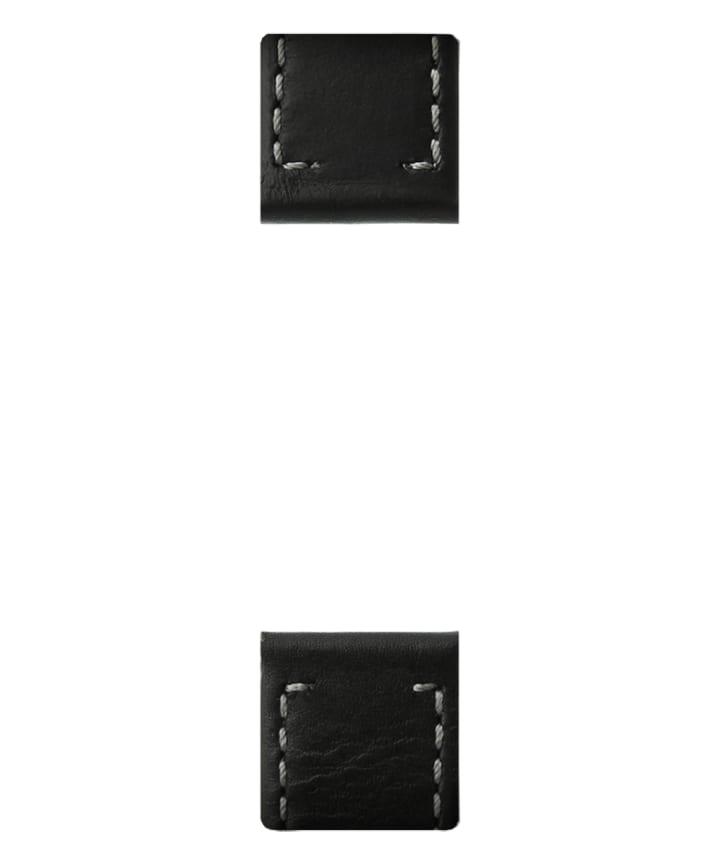 Czarny dwuczęściowy skórzany pasek  large