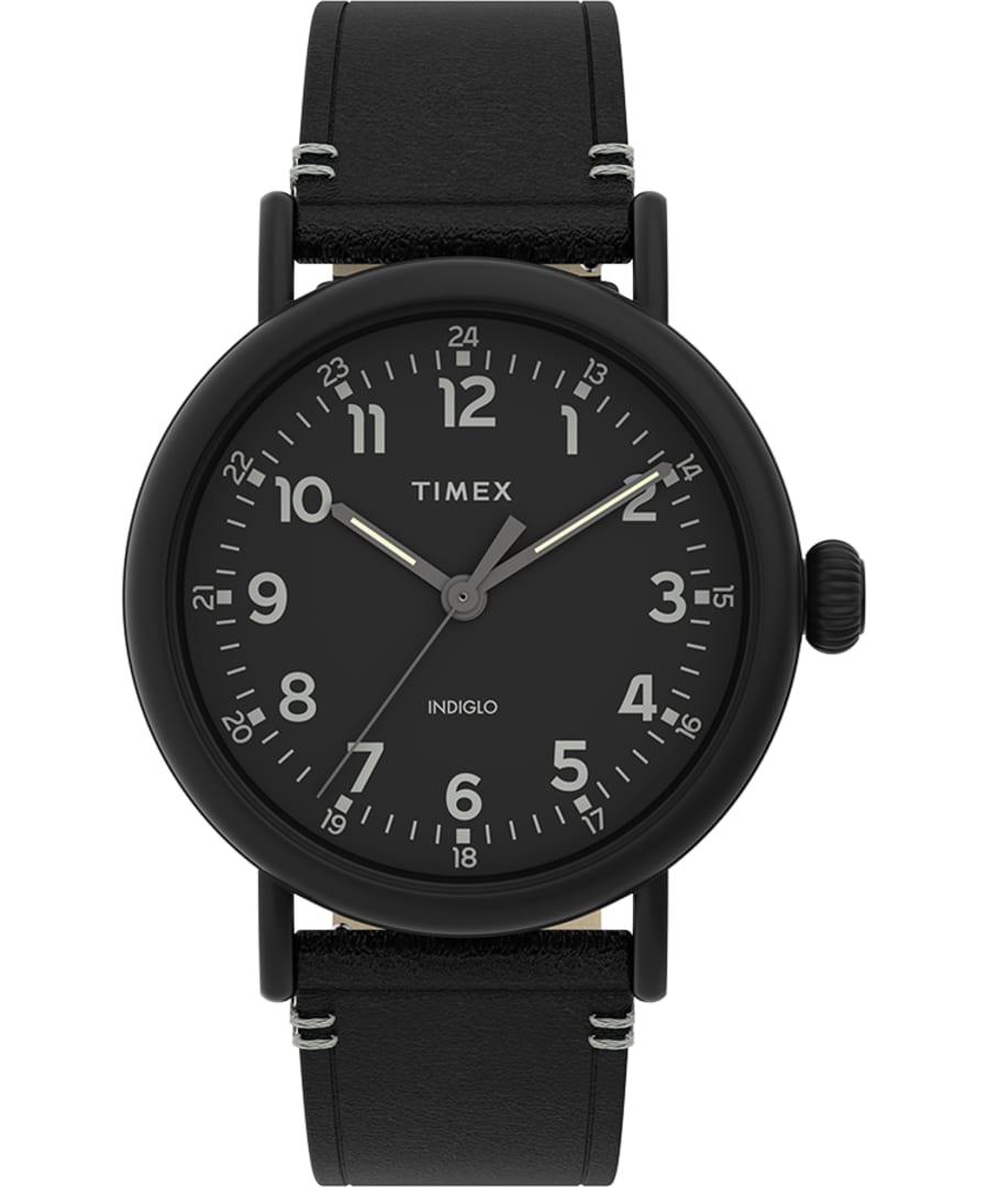 Timex Standard 41mm Leather Strap Watch