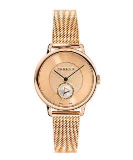 RE-BALANCE T-1 WOMAN - IP ROSE GOLD MESH BAND  large