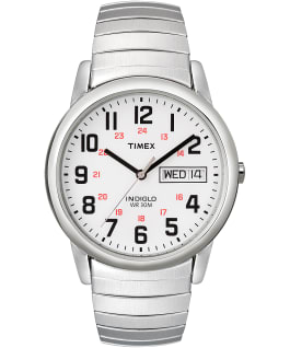 Easy Reader 35mm Stainless Steel Watch Day Date, Silver-Tone/Stainless-Steel/White, large
