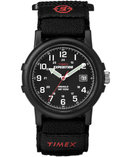Expedition Camper 38 mm, grande, bracelet en nylon noir