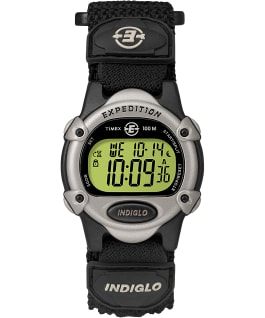 Expedition Chrono-Alarm-Timer 34mm Nylon Strap Watch Black/Silver-Tone large