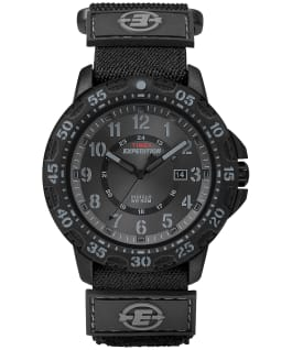 Expedition Gallatin 44mm Fabric Strap Watch Black large