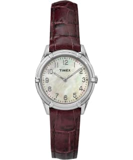 Easton Avenue 27mm Mother of Pearl Stainless Steel Watch Silver-Tone/Brown/Mother-of-Pearl large