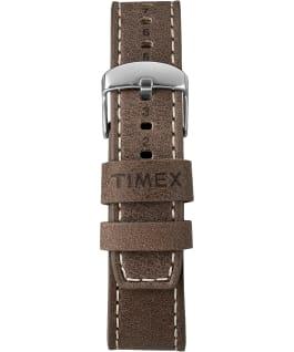 Waterbury 40mm, grande, bracelet en cuir gris métallique/brun/bleu