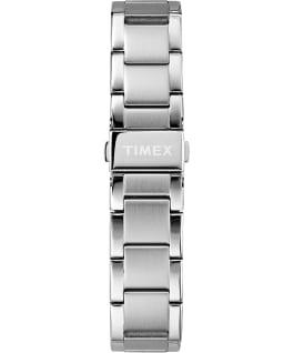 Miami Chronographe pour hommes 38mm, grande, acier inoxydable ton argent/bleu