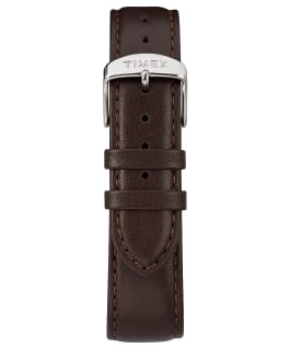 Fairfield Sub-Second 41mm Leather Watch Silver-Tone/Brown/Black large