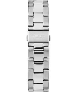 Harborside 42mm Bracelet Watch Chrome/Silver-Tone/Black large