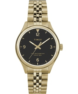 Reloj de acero inoxidable Waterbury Classic de 34 mm Dorado/negro large