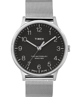Waterbury 40mm Classic Stainless Steel Watch Stainless-Steel/Black large