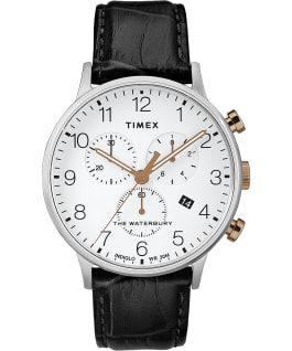 Waterbury-40mm-Classic-Chrono-Leather-Strap-Watch Stainless-Steel/Black/White large