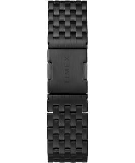 Waterbury Chronographe classique 40mm, grande, acier inoxydable, noir