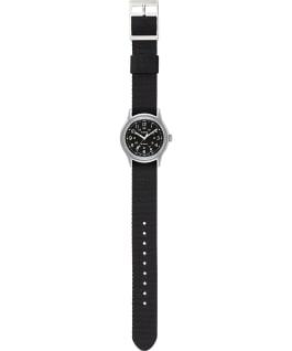 Zegarek MK1 36 mm z paskiem z grogramu w wojskowym stylu Srebrny/Czarny large