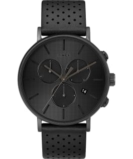 Fairfield Supernova 41mm Leather Strap Watch Black/Black large
