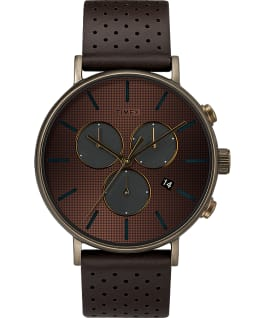 Fairfield Supernova 41mm Leather Strap Watch Bronze-Tone/Brown/Gold-Tone large