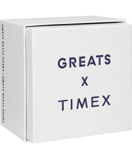 Timex x Greats Bayman 43mm Watch with Fabric Strap Silver-Tone/Blue large