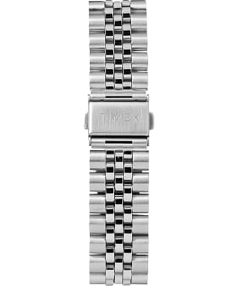 Waterbury Traditional Day Date 42mm Stainless Steel Bracelet Watch Stainless-Steel/Black large