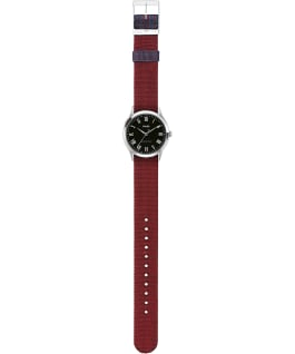 Whitney Avenue 36mm Reversible Grosgrain Strap Watch Stainless-Steel/Black large