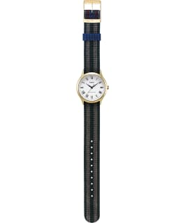 Whitney Avenue 36mm Reversible Grosgrain Strap Watch Gold-Tone/White large